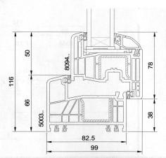 Gealan S 8000 IQ Technische Zeichnung
