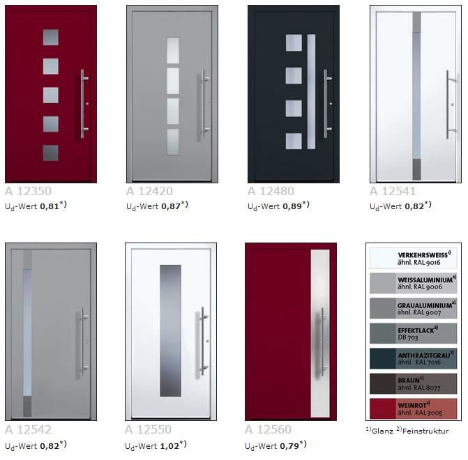Haustüren weiß ohne glas  All-Inklusiv-Aluminium-Haustüren - Kamphoog