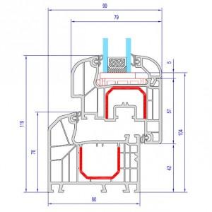 Aluplast Ideal 7000 Technische Zeichnung
