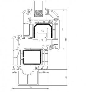 Aluplast Ideal 4000 Technische Zeichnung