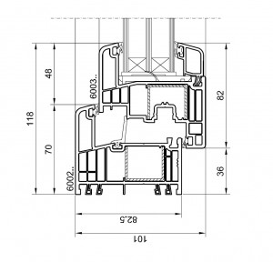 Querschnitt - GEALAN S9000 MD - technische Zeichnung