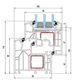 Kamphoog Passiv 8000 Technische Zeichnung