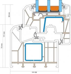 Trocal 88 technische Zeichnung