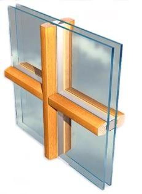 Wiener Sprosse mit Abstandshalter im Glas